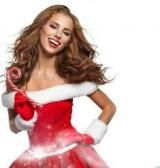 Raster clipart - Fotolia - Santa Girl with Christmas Gifts on White Background 2 [JPG] torrent